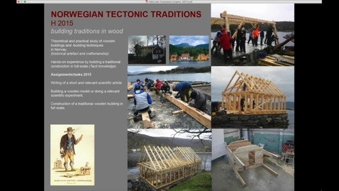 Thumbnail for entry ARK - Norwegian Tectonic Tree Building Traditions