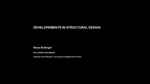 Thumbnail for entry Guest Lecture - Klaus Bollinger