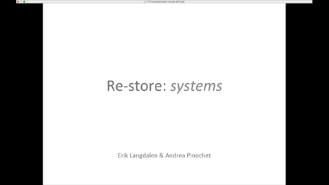 Thumbnail for entry FTH - Re-Store - Systems