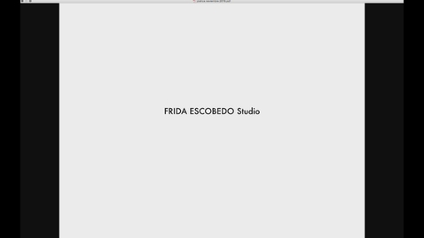 Thumbnail for entry Guest Lecture - Frida Escobedo