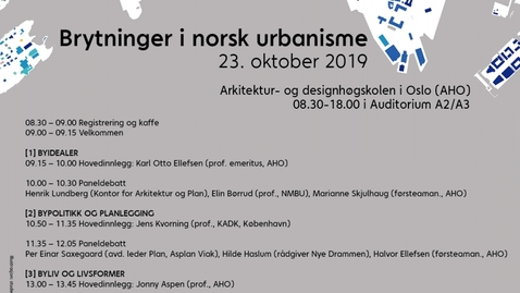 Thumbnail for entry Konferanse program