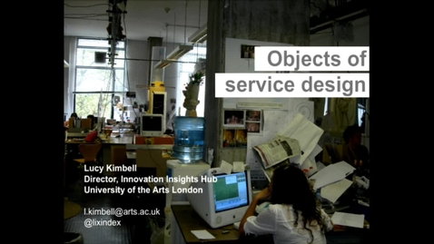 Thumbnail for entry Guest Lecture - Lucy Kimbell