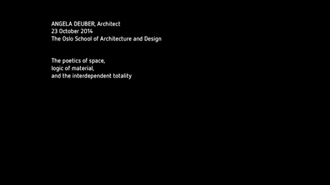 Thumbnail for entry Guestlecture - Angela Deuber
