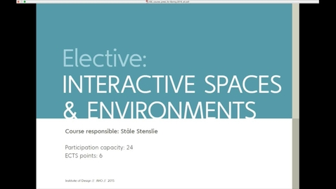 Thumbnail for entry IDE - Elective, DIPLOMA, Self Programmed