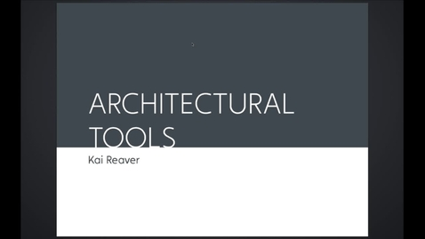 Thumbnail for entry ARK - Architectural Tools