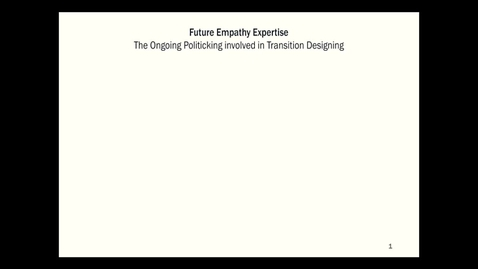 Thumbnail for entry Guestlecture-250418 - Cameron Tonkinwise