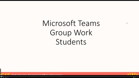 Thumbnail for entry Microsoft Teams for students