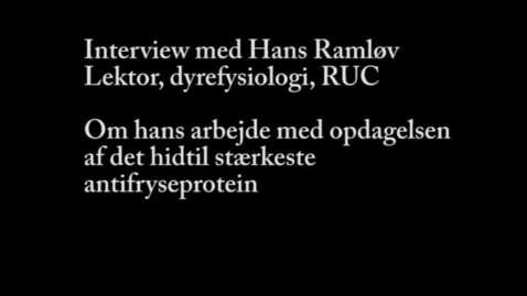 Thumbnail for entry Interview med lektor Hans Ramløv