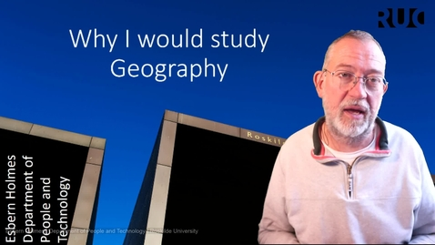 Thumbnail for entry Why I would study Geography