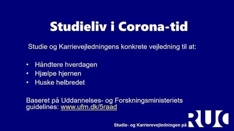 Thumbnail for entry studieliv i coronatid video