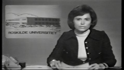 Thumbnail for entry Indslag i tv-avisen i anledning af overdragelsen af RUC's bygninger