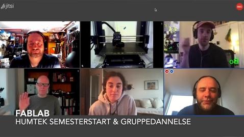 Thumbnail for entry Semesterstart og gruppedannelses præsentation fra Fablab RUC for Humtek studerende og alle RUC studerende [Danish]