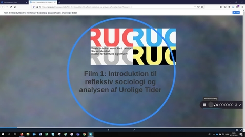 Thumbnail for entry Film 1: BK 2  - Introduktion til refleksiv sociologi