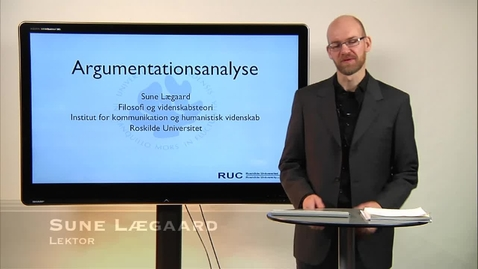 Thumbnail for entry Sune Lægaard om argumentationsanalyse