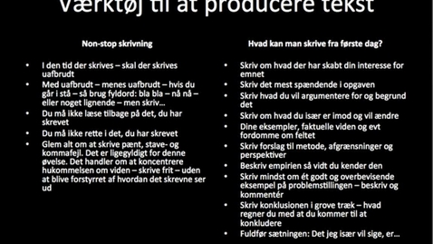 Thumbnail for entry Værktøjer til at producere tekst