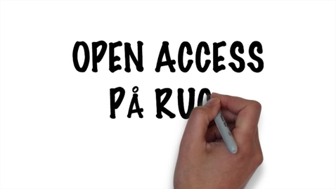 Thumbnail for entry Open Access på RUC