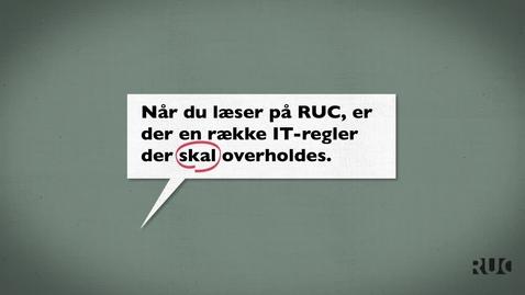Thumbnail for entry RUC - Adgangskoder