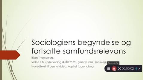 Thumbnail for entry Video 2: sociologiens begyndelse!