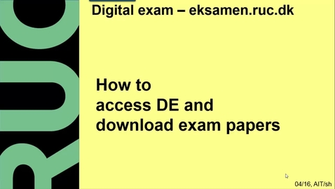 Thumbnail for entry How to access DE and download exam papers