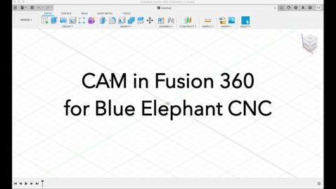 Thumbnail for entry CAM in Fusion 360 for Blue Elephant full sheet CNC mill