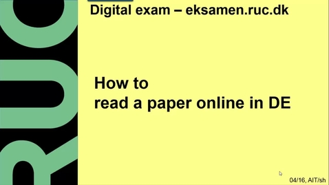Thumbnail for entry How to read a paper online i DE