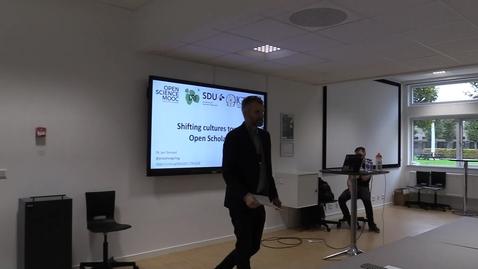 Thumbnail for entry Jon Tennant - Shifting cultures towards Open Scholarship