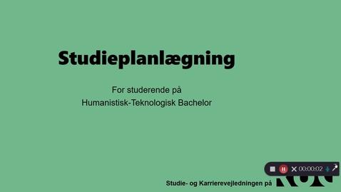 Thumbnail for entry HUMTEK studieplanlægning med Clara
