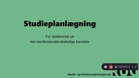 Thumbnail for entry SAMBACH studieplanlægning med Micky