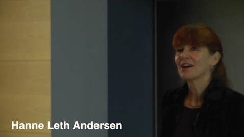 Thumbnail for entry Rektor Hanne Leth Andersen at NORA Conference, RUC 2014