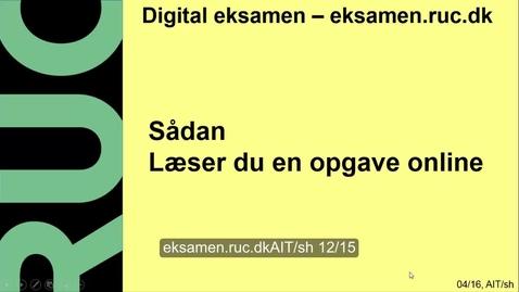 Thumbnail for entry Digital Eksamen: Rette opgave online