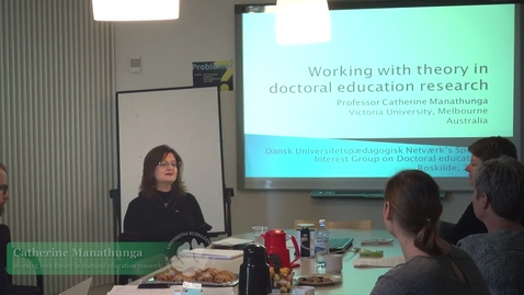 Thumbnail for entry Open seminar on doctoral education and supervision with Catherine Manathunga
