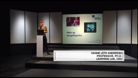 Thumbnail for entry Danskernes Akademi - Sprogindlæring i forskellige aldre