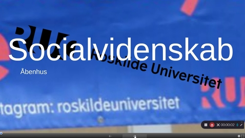 Thumbnail for entry Åbenhus Socialvidenskab