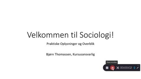 Thumbnail for entry Video 1: velkommen!