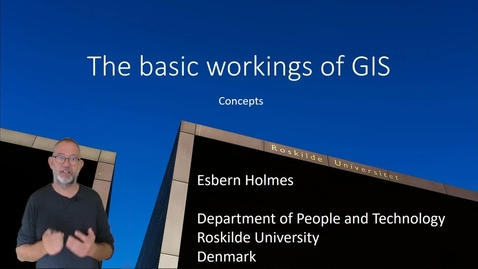 Thumbnail for entry The Basics of GIS - Concepts