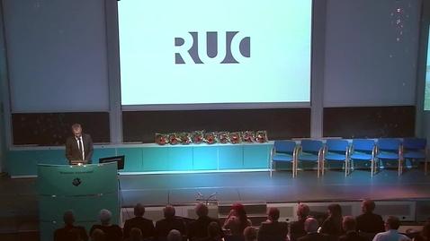 Thumbnail for entry Prorektor Peter Kjærs tale ved RUCs årsfest 2015