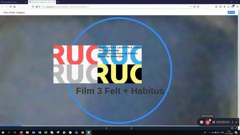 Thumbnail for entry Film 3: BK 2 - Refleksiv sociologi Felt + Habitus