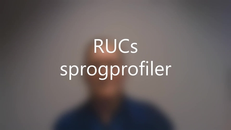 Thumbnail for entry RUCs sprogprofiler