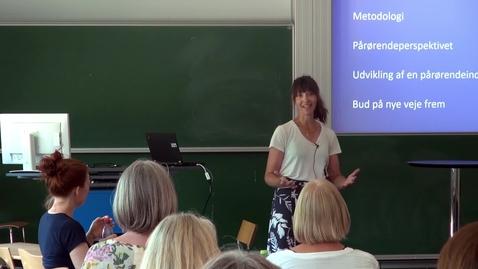 Thumbnail for entry Pårørendeinddragelse i praksis - Camilla Bernild