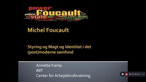 Thumbnail for entry Video 3 Foucault, Biopolitik og governmentality