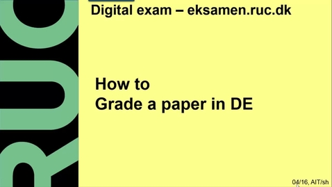 Thumbnail for entry How to grade a paper in DE
