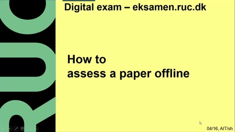 Thumbnail for entry How to assess a paper offline