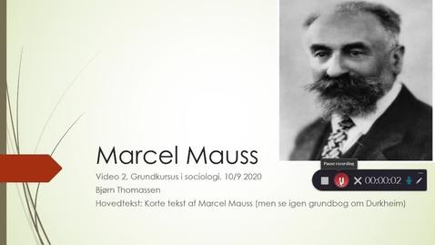 Thumbnail for entry Video 2 10/9 Mauss og Habitus