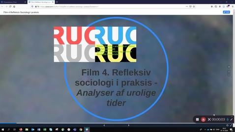 Thumbnail for entry Film 4: BK 2 - Reflksiv sociologi i praksis