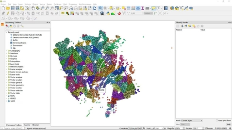 Thumbnail for entry QGIS distance to nearest hub vs buffer and clip