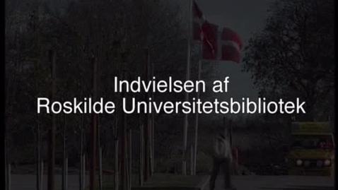 Thumbnail for entry Roskilde Universitets Biblioteks indvielse 2001