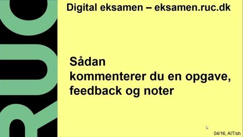 Thumbnail for entry Digital Eksamen: Kommentering
