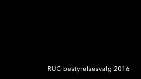 Thumbnail for entry RUC bestyrelse Connie Svabo 2016