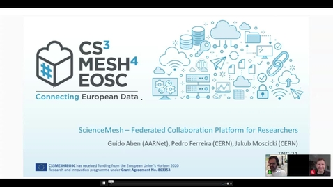 Thumbnail for entry ScienceMesh – Federated Collaboration Platform for Researchers