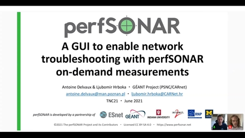 Thumbnail for entry A GUI to enable network troubleshooting with perfSONAR on-demand measurements